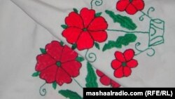 Jalalabad: Handkerchief made by afghan girls
