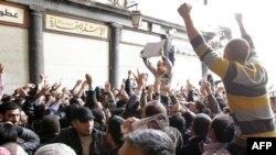 Акция протеста в Дамаске, 25 марта