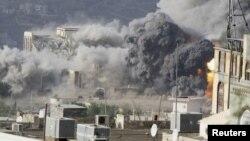 У квітні під потужний авіаудар потрапило місто Таїз у Ємені
