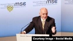 افغان ولسمشر محمد اشرف غني مونیخ کنفرانس کې د وینا پرمهال