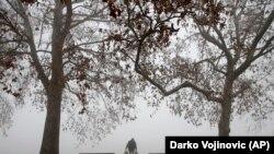 Загаден воздух во Белград. 15 јануари, 2021 година.