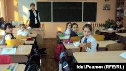 Урок чувашского языка в 50-й школе города Чебоксары