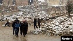 Сириянын Маарет аль-Нуман шаары, 5-январь, 2016-жыл.