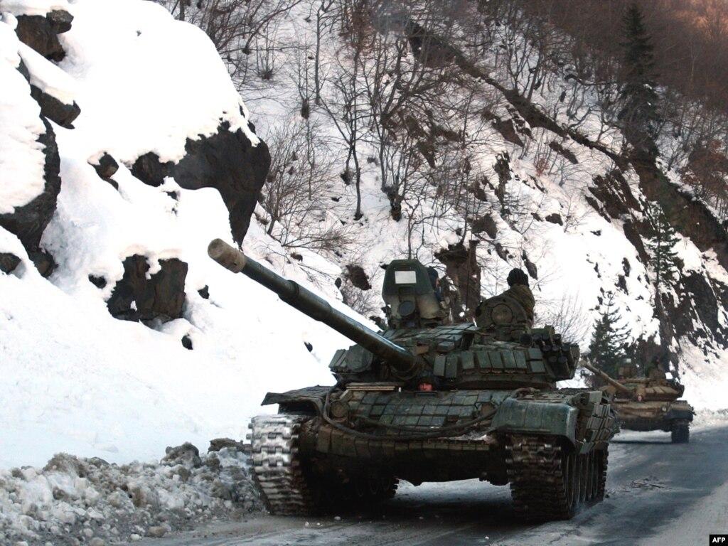 Российские военные учения неподалеку от грузинских границ вызвали