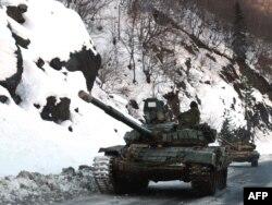 Gürcüstanda rus tankları, 21 yanvar 2009