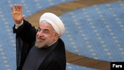 Iranian President-elect Hassan Rohani at a June 20 appearance
