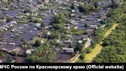 Подтопление города Канска в Красноярском крае