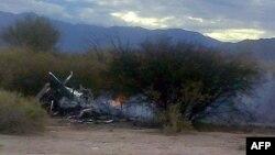 Արգենտինա - Վթարված ուղղաթիռների այրվող բեկորները, Լա Ռիոխա նահանգ, 9-ը մարտի, 2015թ․