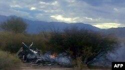 بقایای هلیکوپترهای سقوط کرده در آرژانتین