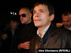 Ілля Яшин (справа) на одному з мітингів у Москві
