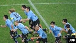 Уругвајците го слават пласманот во полуфиналето