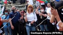 """Румяна Ченалова на протеста на """"Възраждане"""""""