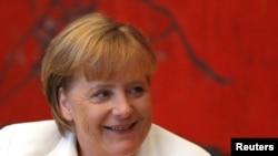 Канцлер Германии Ангела Меркель. Белград, 23 августа 2011 года.