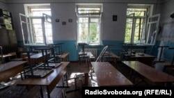 Одна из школ в Донецке