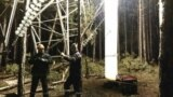 Crimea, Alushta - replacement of the damaged high-voltage support in Alushta, 02Nov2017