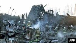"""Спаленный дотла ресторан """"Подворье"""", 19 апреля 2011"""