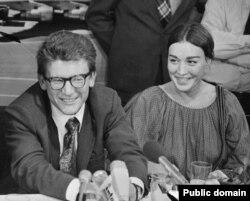 Андрей Амальрик с женой Гюзель