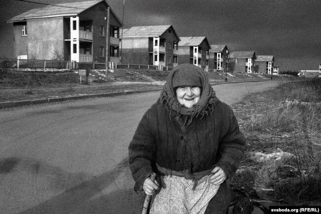 Поселок Майский. Сюда стали переселять людей только через три-четыре года после чернобыльской аварии