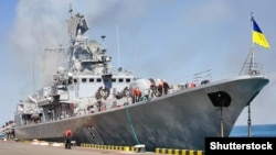 Флагман украинских ВМС фрегат «Гетман Сагайдачный», архивное фото