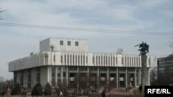 The building of the Kyrgyz National Philharmonic Orchestra in Bishkek
