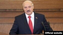 Аляксандар Лукашэнка падчас выступу ў