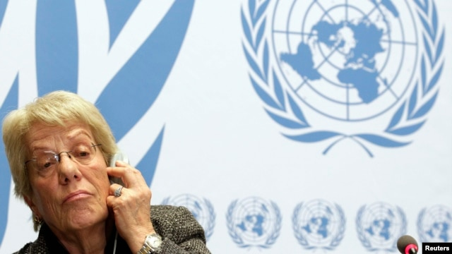 UN investigator Carla del Ponte says that 'it is time' for the International Criminal Court to probe war crimes in Syria.