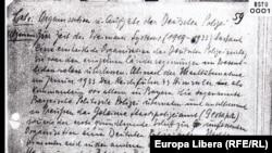 Filă din dosarul lui Gustav Richter în arhiva Stasi