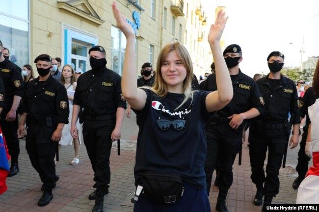 Протест в Минске, июнь 2020