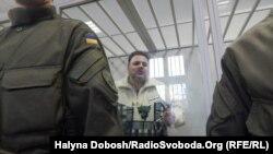 Руслан Коцаба під час засідання суду в Івано-Франківську, 17 лютого 2016 року