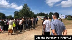 "Migrantski kamp ""Lipa"" jutro nakon incidenata, 27. avgust 2020."
