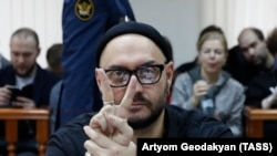 Russian theater and film director Kirill Serebrennikov in court on December 4.