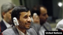 محمود احمدی نژاد در سازمان ملل «قدرتمندان بی اخلاق» را سرزنش کرد. (عکس: AFP)