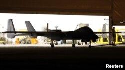 Беспилотный летательный аппарат на военной базе в Афганистане