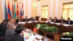 Armenia - The Committee on Defense and Security of the CSTO Parliamentary Assembly meets in Yerevan, 30Oct2013.