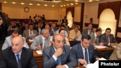 Armenia -- Yerevan's Council of Elders holds a session.