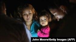 Мигранты из Гондураса на американо-мексиканской границе