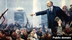"""Фрагмент картины Серова """"Ленин провозглашает Советскую власть"""""""