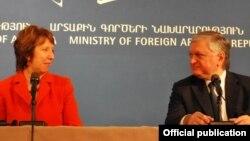 Էդվարդ Նալբանդյանի և Քեթրին Էշթոնի համատեղ ասուլիսը Երևանում, 17-ը նոյեմբերի, 2011թ․