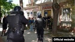 Поліція біля місця бійки в Миколаєві
