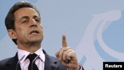 Президент Франции Николя Саркози. Берлин, 9 января 2011 года.