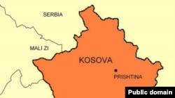 Kosovo - Kosovo map, undated