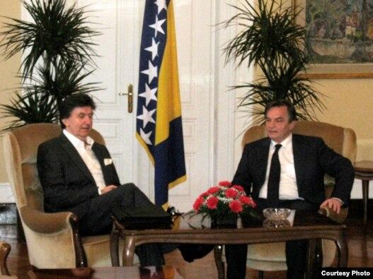 Ejup Ganić i Haris Silajdžić, 29. jula u Sarajevu