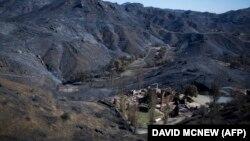 Planina Santa Monika nakon požara u Kaliforniji