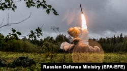 U.S. and NATO officials have repeatedly accused Russia of developing weapons systems that they say are a violation of the INF treaty, which bans the use of intermediate-range missiles.