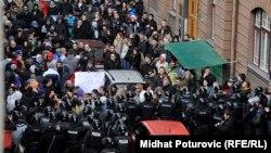 Četvrti dan protesta u bh. prijestolnici