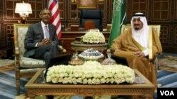 باراک اوباما و سلمان بن عبدالعزیز