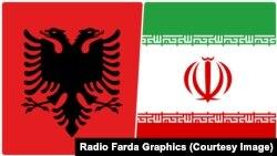 Steagurile Albaniei și Iranului