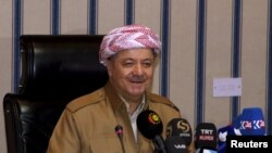 Iraqi Kurdish leadert Masud Barzani (file photo)