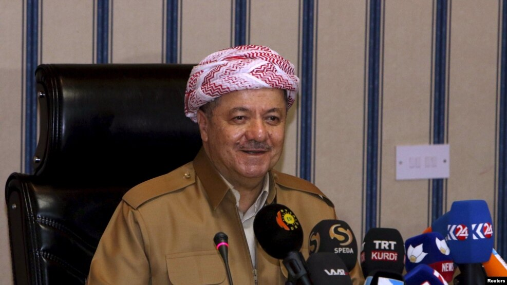 Iraqi Kurdish leadert Masud Barzani (file photo)