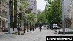 Centrul Chișinăului pustu - 18 aprilie 2020